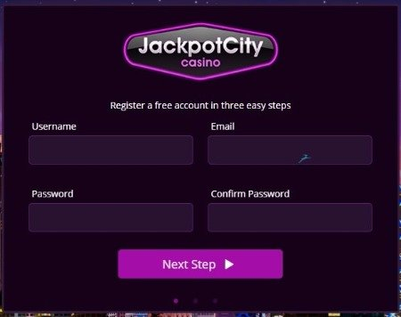 jackpotcity casino sign up and registration